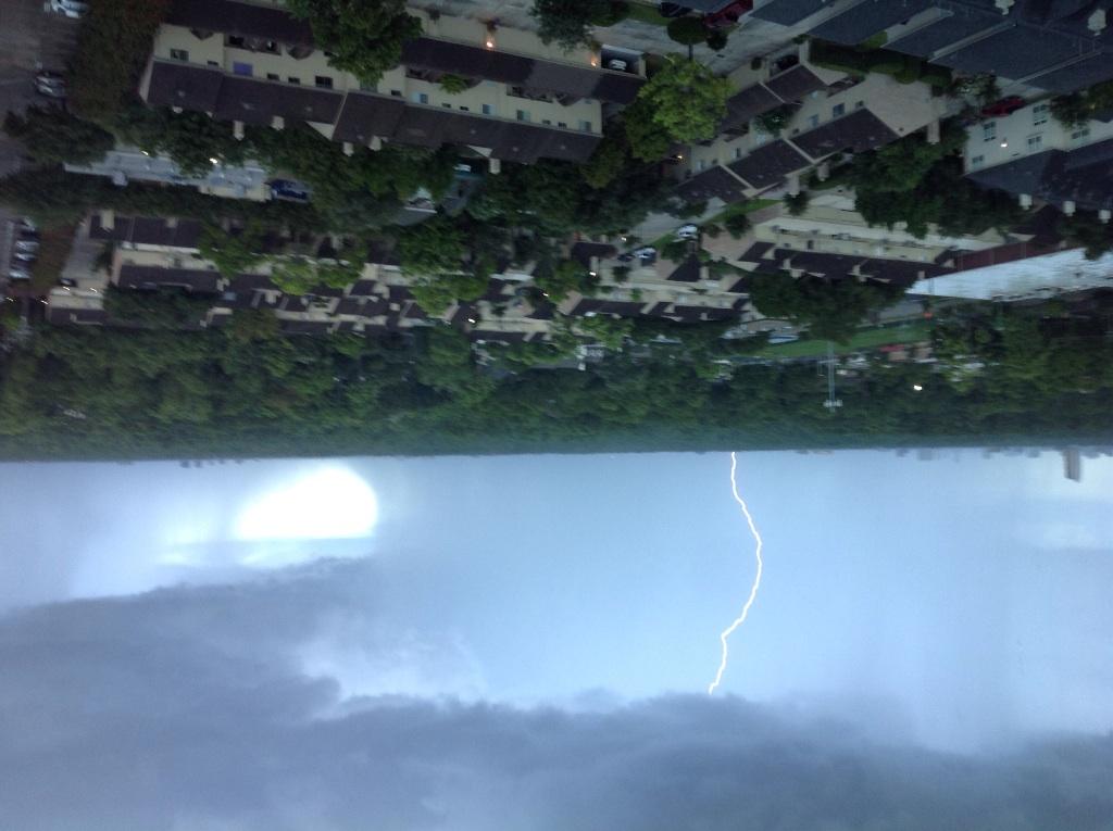 Picture of lightning strike over Houston