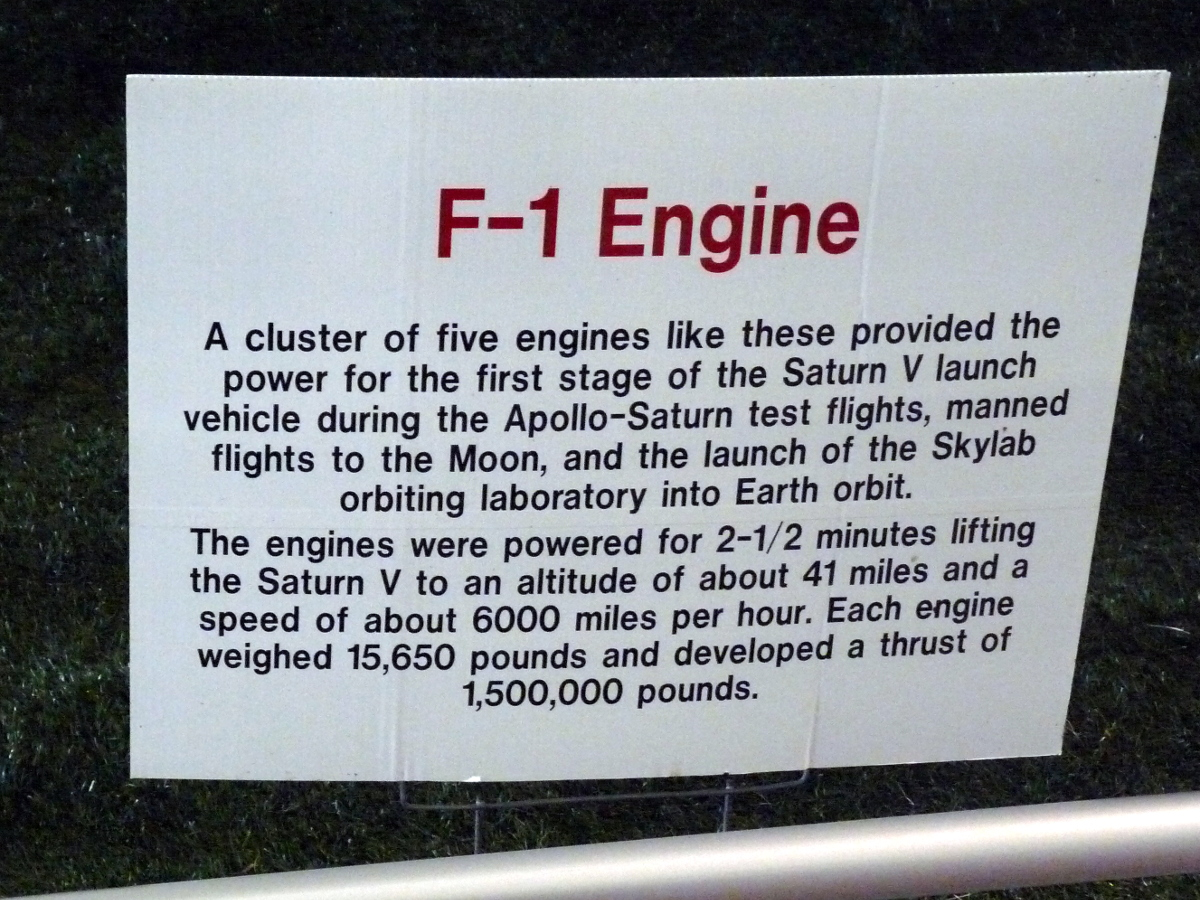 Picture of F-1 Engine placard