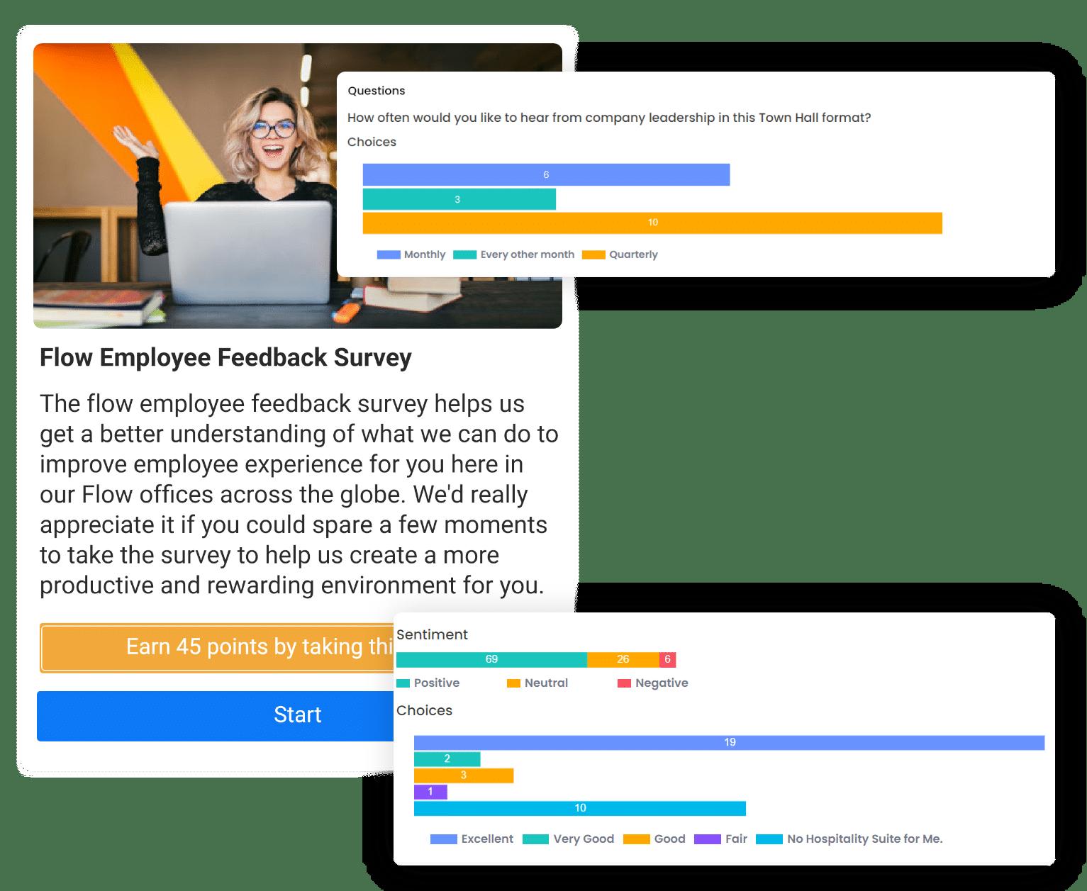 surveys - quick reports and metrics