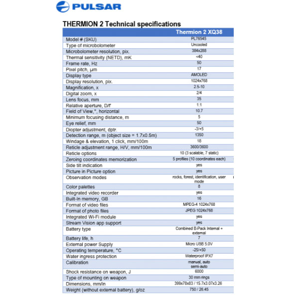 Termalni uređaj Pulsar Thermion 2 XQ38