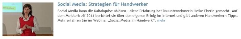 Social Media - Strategien fuer Handwerker (von Heike Eberle)