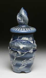 Dark Blue Fish Jar