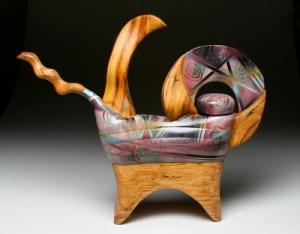wood pstys teapot