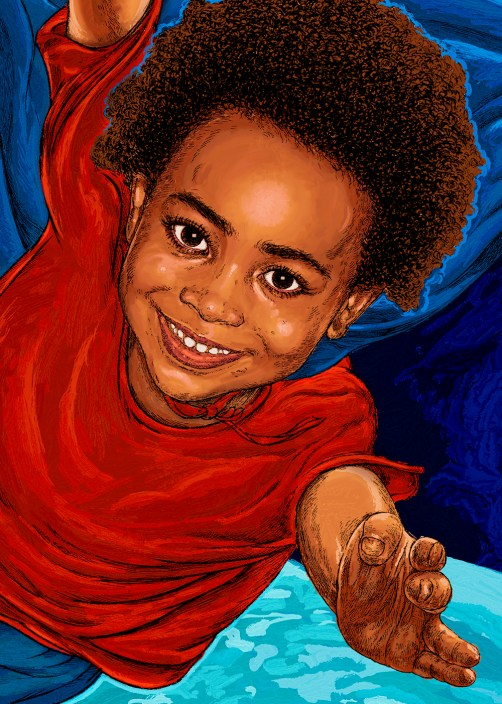 I'm a star by Dionne Ormonde children's book illustrations gift detail by hubertfineart