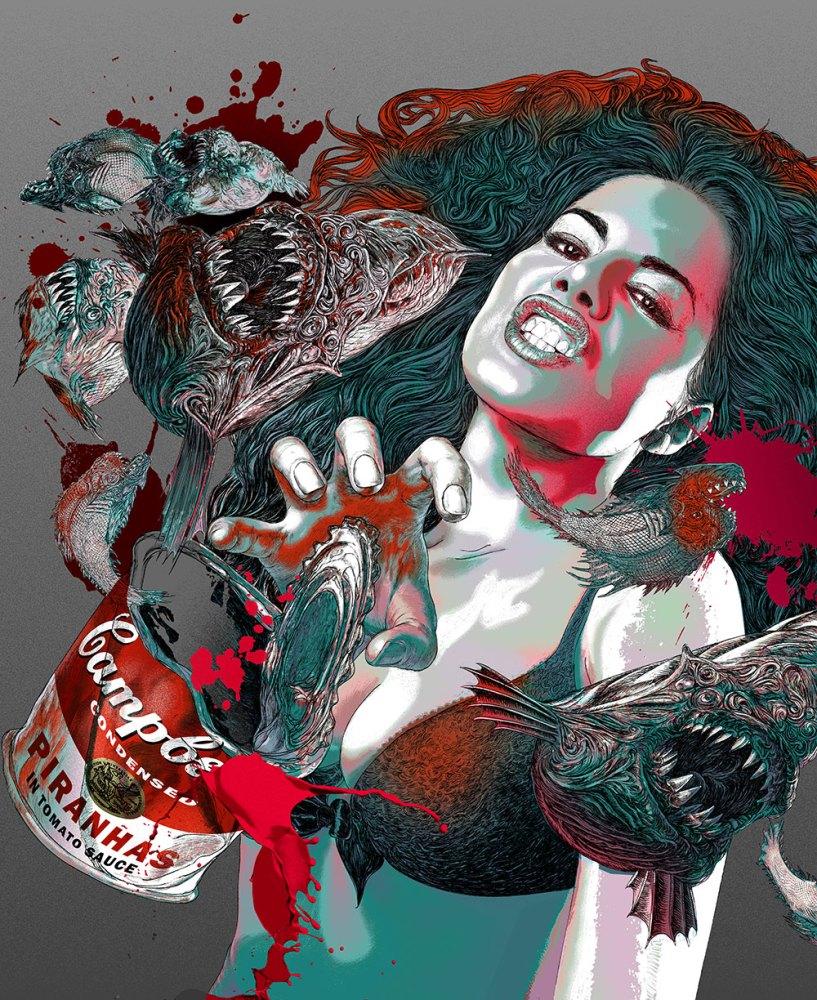cd cover illustration fish art silver version