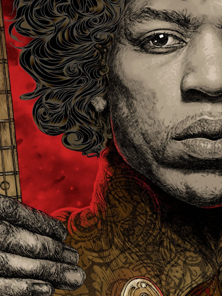 jimi hendrix portrait illustration 2