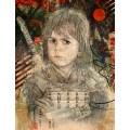 the look of the samurai print by hubert fine art