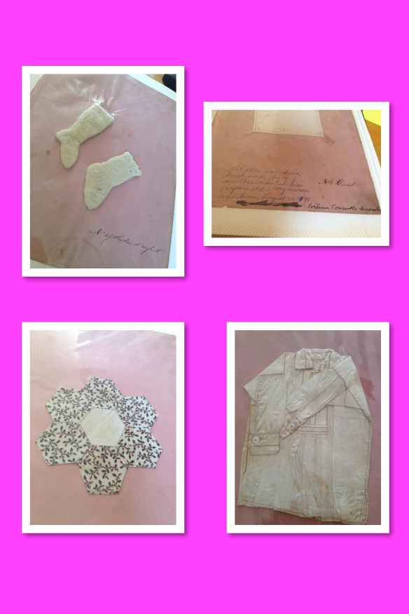 Sewing pieces done by Evelina at age 10 - Sarah Di Lallo collection