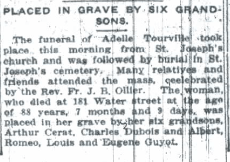 Adele Tourville funeral