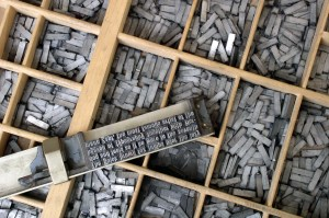 Photo: Metal movable type by Willi Heidelbach