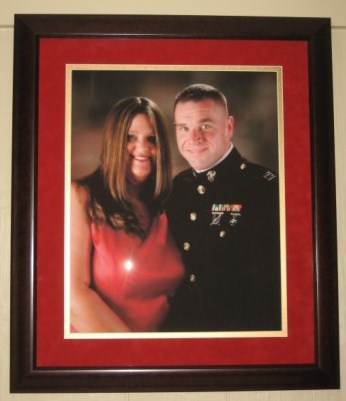 Framed and matted formal portrait from our 03/08 cruise