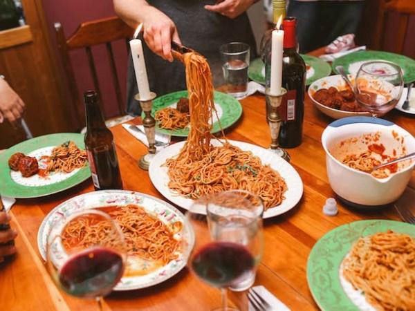 Spaghetti Dinner - Photograph by Carina Romano