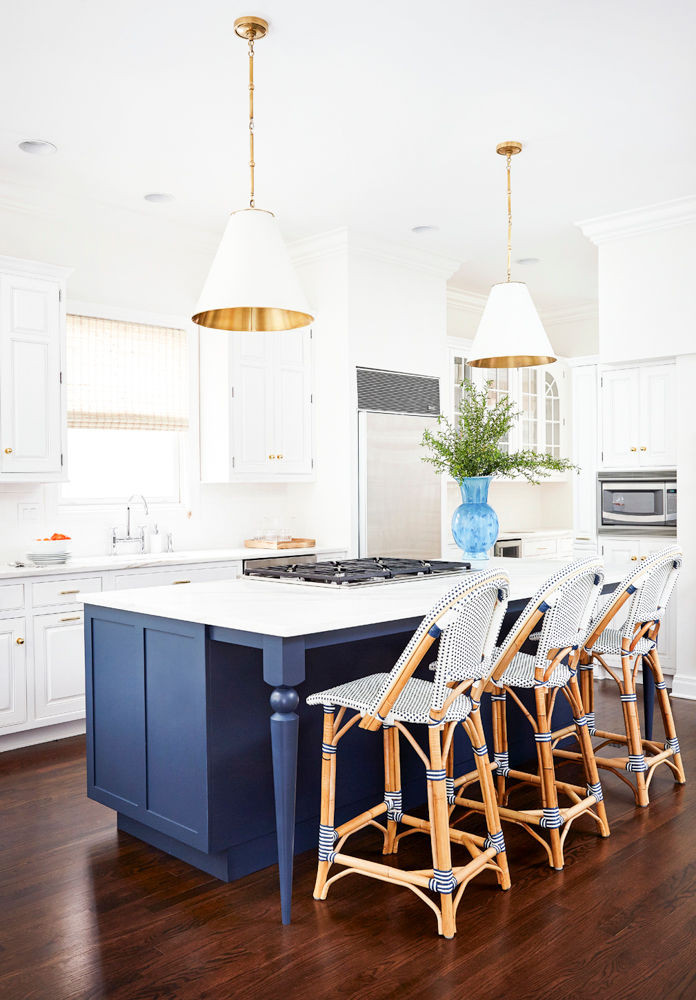 Perfect Together: Navy + White Kitchen - Hudson + Reade
