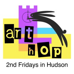 2nd Fridays Art Hop in Hudson Logo