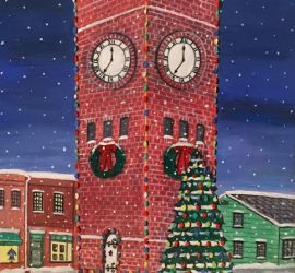 Hudson Clocktower by Barbara Rosene