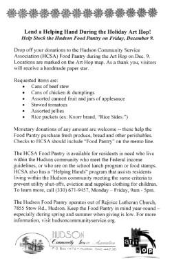 Hudson Community Service Association Food Pantry Donation List