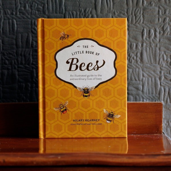 The Little Book of Bees is mustard yellow book about bees