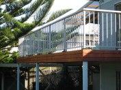 Deck aluminium picket handrail