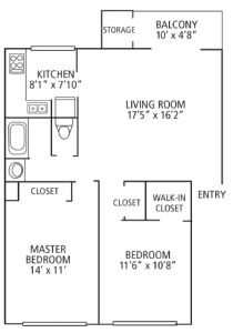 2 Bed / 1 Bath / 925 sq ft / Please Call