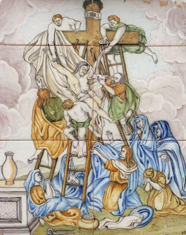 Descendimiento del cuerpo de Jesús de la cruz.