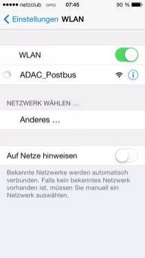 ADAC Postbus WLAN und Mediacenter