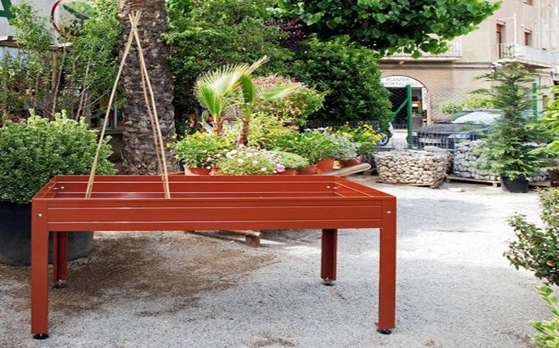 mesas de cultivo para huerto urbano