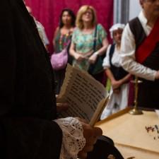 Visita guiada a palacio de Valdeolivos de Fonz ambientadas en la Guerra de la Independencia. Foto: Alejandro Lansac