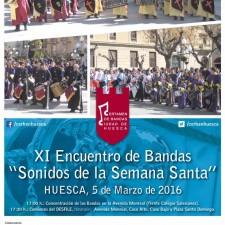 """XI ENCUENTRO DE BANDAS """"SONIDOS DE LA SEMANA SANTA"""" DE HUESCA"""