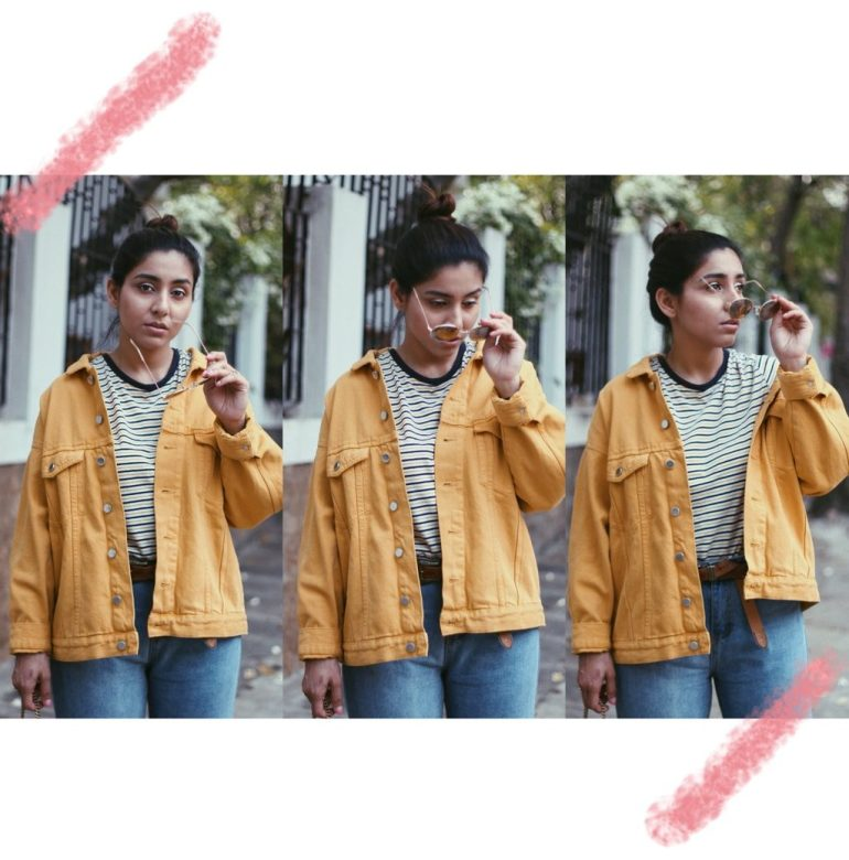 How to style yellow denim jacket
