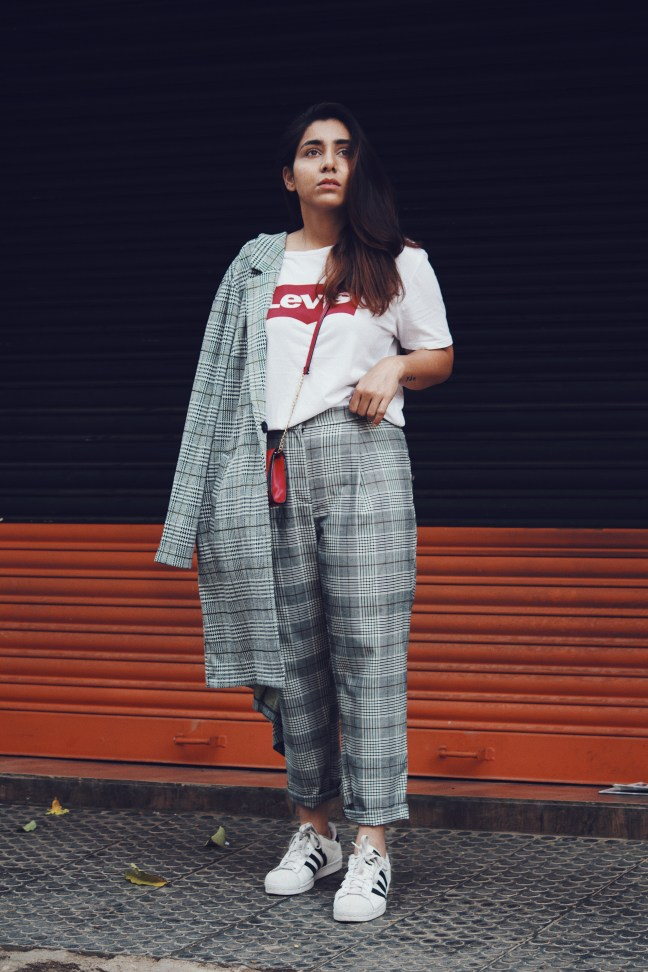 Huesofme Blog, lookbook, styling plaid