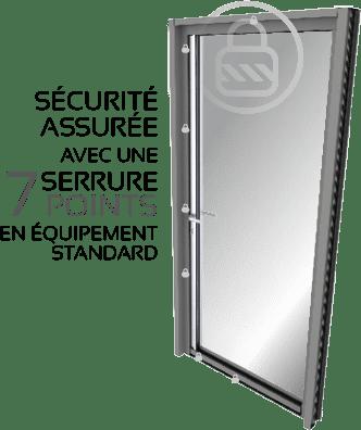 Sécurité points serrure porte d'entrée aluminium STYLIUMDOOR