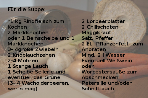 Suppenzutaten