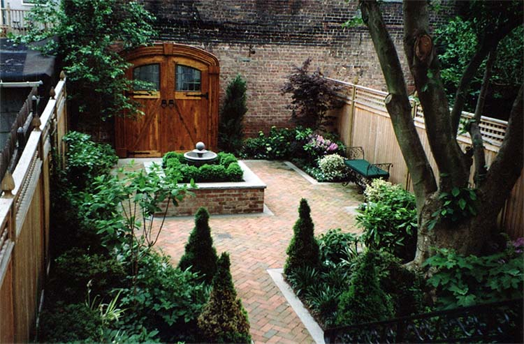 Brownstone Garden Design Services In Hoboken Nj