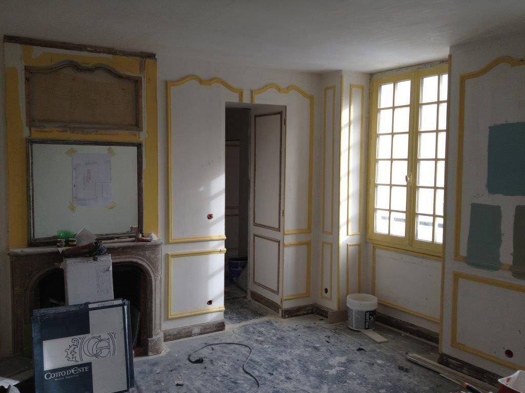 Une chambre pendant les travaux