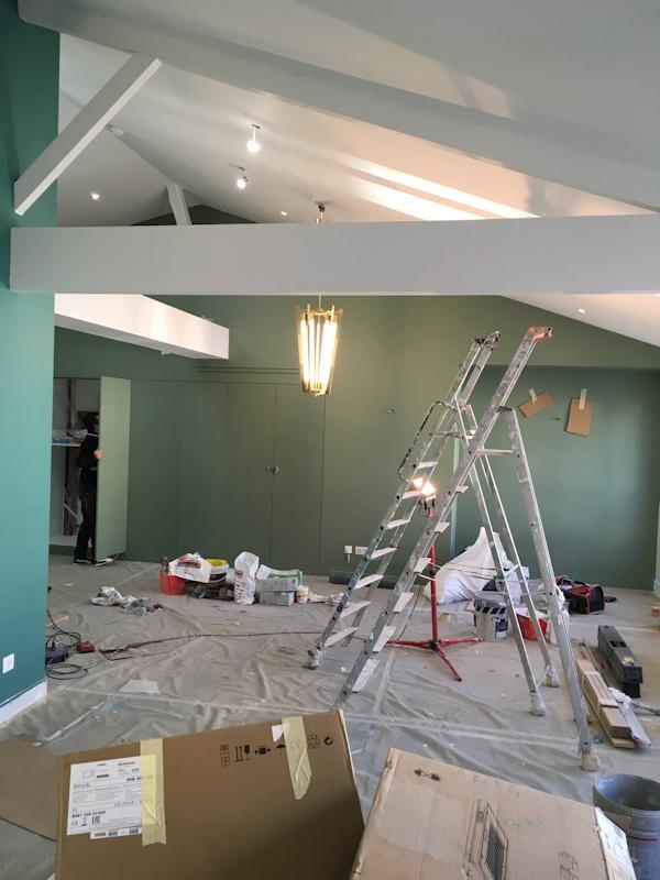 Travaux de rénovation en cours