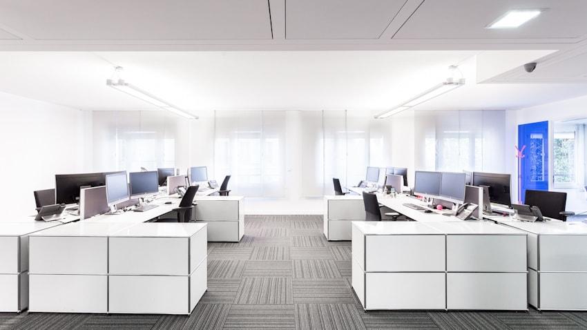 Espace de travail lumineux