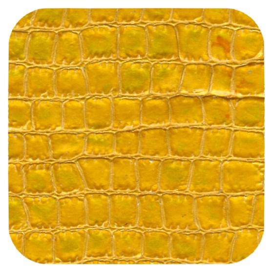 yellow croc leather