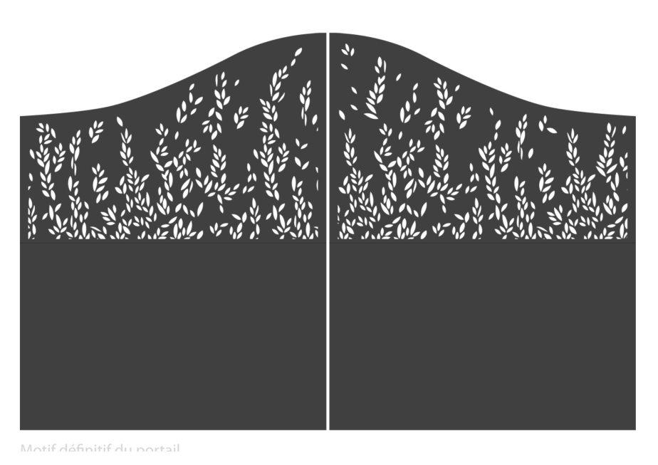 conception motif sur-mesure - portail - My Design - Marilyne Yvrard