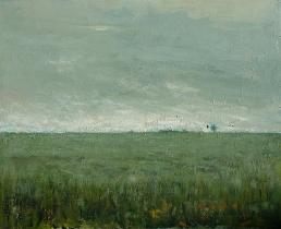 """<h5>Plaine grise</h5><p>Oil on canvas, 31¾"""" x 39½""""</p>"""