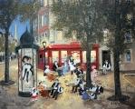 """<h5>Soir Tranquille dans le Vieux Paris</h5><p>Acrylic on board, 13 x 16"""" (33 x 40 ¾cm)</p>"""