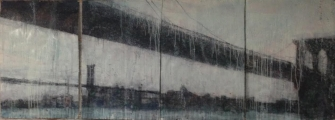 "<h5>Brooklyn Bridge (Quadiptych)</h5><p>Watercolor on paper, 4 at 60"" x 40"" (152.5 x 101.5cm)</p>"
