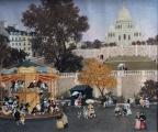 """<h5>Manège à Montmartre</h5><p>Acrylic on board, 21 x 25 ½"""" (53 ¼ x 64 ¾cm)</p>"""