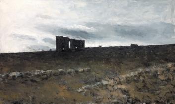 "<h5>Acinipo</h5><p>Oil on Canvas, 38¼"" x  63""</p>"