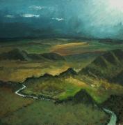 """<h5>Campo de Olvera-4</h5><p>Oil on Canvas, 39¼"""" x 39½""""</p>"""
