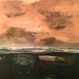 "<h5>Philippe Vasseur ""La barque""</h5><p>Oil on Canvas 47"" x 47""</p>"