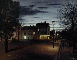 """<h5>Les Néons</h5><p>Oil on canvas, 14"""" x 10½""""</p>"""