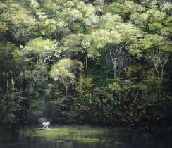 "<h5>Anima Mundi</h5><p>Mixed media on canvas (79 1/4"" x 82 1/2"", 180 x 210cm)</p>"