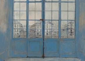 """<h5>La porte fenetre </h5><p>Oil on Canvas. 29"""" x 39"""" (73.1 x 99.1 cm)</p>"""