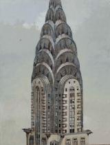 """<h5>Chrysler Building</h5><p>Oil on Canvas. 51"""" x 39"""" (129.5 x 99cm) </p>"""