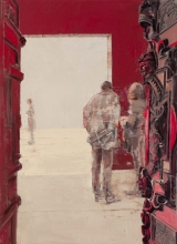 "<h5>The Door</h5><p>Oil on Canvas. 19"" x 26"" (48.5 x 66cm)</p>"